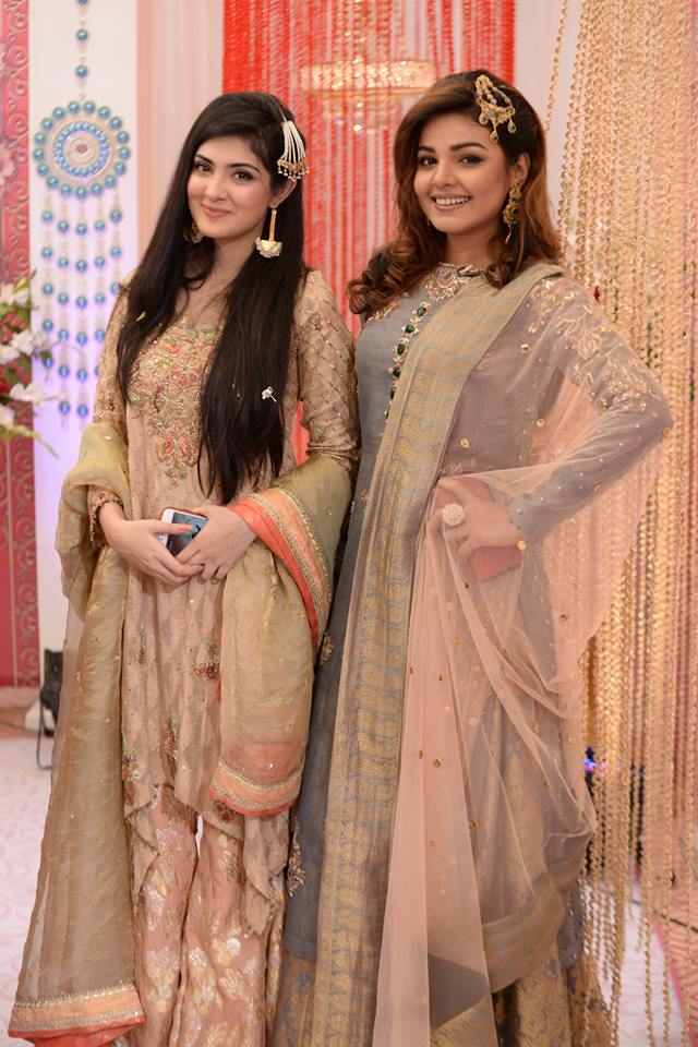 Actress Aleezay Tahir and Isha Noor at Nida Yasir Show