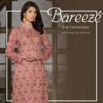 Embroidered Bareeze Eid latest design 2018