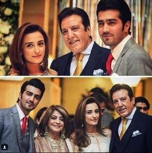 Javed Sheikh his Wife , Son Shahzad and Daughter Momal at a Family Wedding (1)