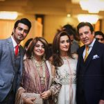 Javed Sheikh his Wife , Son Shahzad and Daughter Momal at a Family Wedding (2)