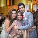 Javed Sheikh with his wife, son & daughter at a family wedding