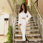 Sonya Hussain at the promotional event of her upcoming film Azaadi