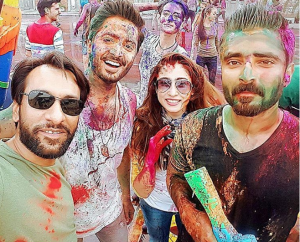 Hamza Ali Abbasi and Danish Taimoor painting the town, quite literally, in Thailand