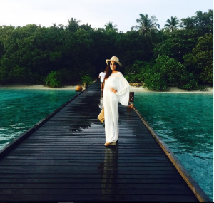Mehreen Syed soaking in the serenity of Maldives
