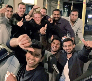 Shoaib Malik hanging out with his bros in the UK
