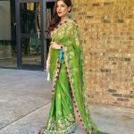 Ayesha Omar traditionally dressed at an event in the United States (2)