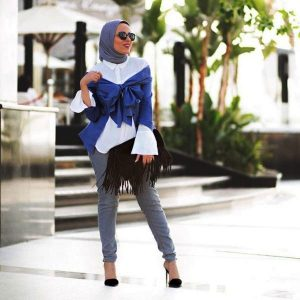 GIRLS HOW TO WEAR OFF SHOULDER TOPS HALAL WAY (5)