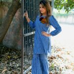 Hand blocked stripes Kurta and pants by the Jodilife (3)