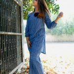 Hand blocked stripes Kurta and pants by the Jodilife (6)