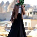 Hijab Look with Flare Skirt Outfit Fashion 2018 (6)