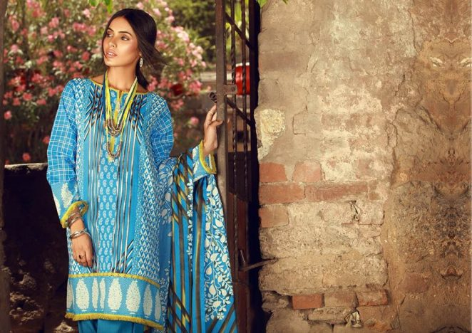 7746495a3a Mid-Summer Colorful Suits 2018 New Ideas By Khaadi (9) – MagazinePk