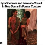 Syra Shahroze & her Sister Palwasha Yousaf at Friend Wedding (3)