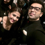 The beautiful Mehwish Hayat and Fahad Mustafa in Dubai at the premiere of their Movie Load wedding