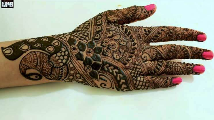 BRIDAL MEHNDI STEP BY STEP DESIGN TUTORIAL (1)