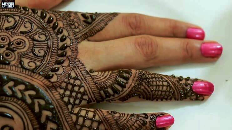BRIDAL MEHNDI STEP BY STEP DESIGN TUTORIAL (10)