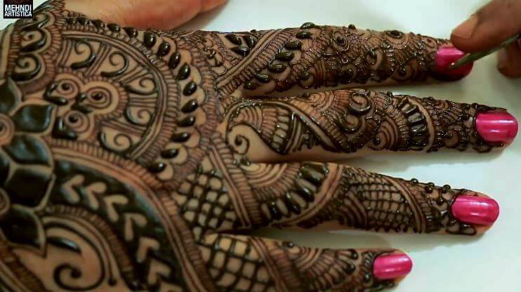 BRIDAL MEHNDI STEP BY STEP DESIGN TUTORIAL (11)