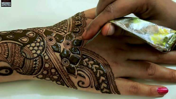 BRIDAL MEHNDI STEP BY STEP DESIGN TUTORIAL (7)