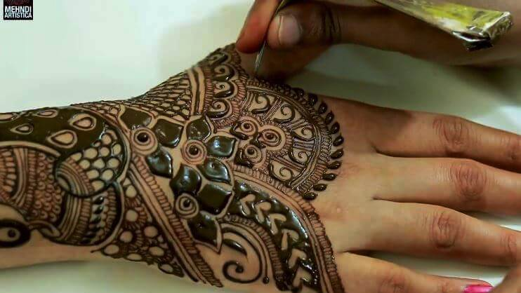 BRIDAL MEHNDI STEP BY STEP DESIGN TUTORIAL (8)