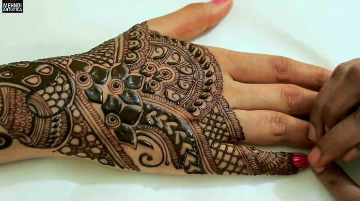 BRIDAL MEHNDI STEP BY STEP DESIGN TUTORIAL (9)
