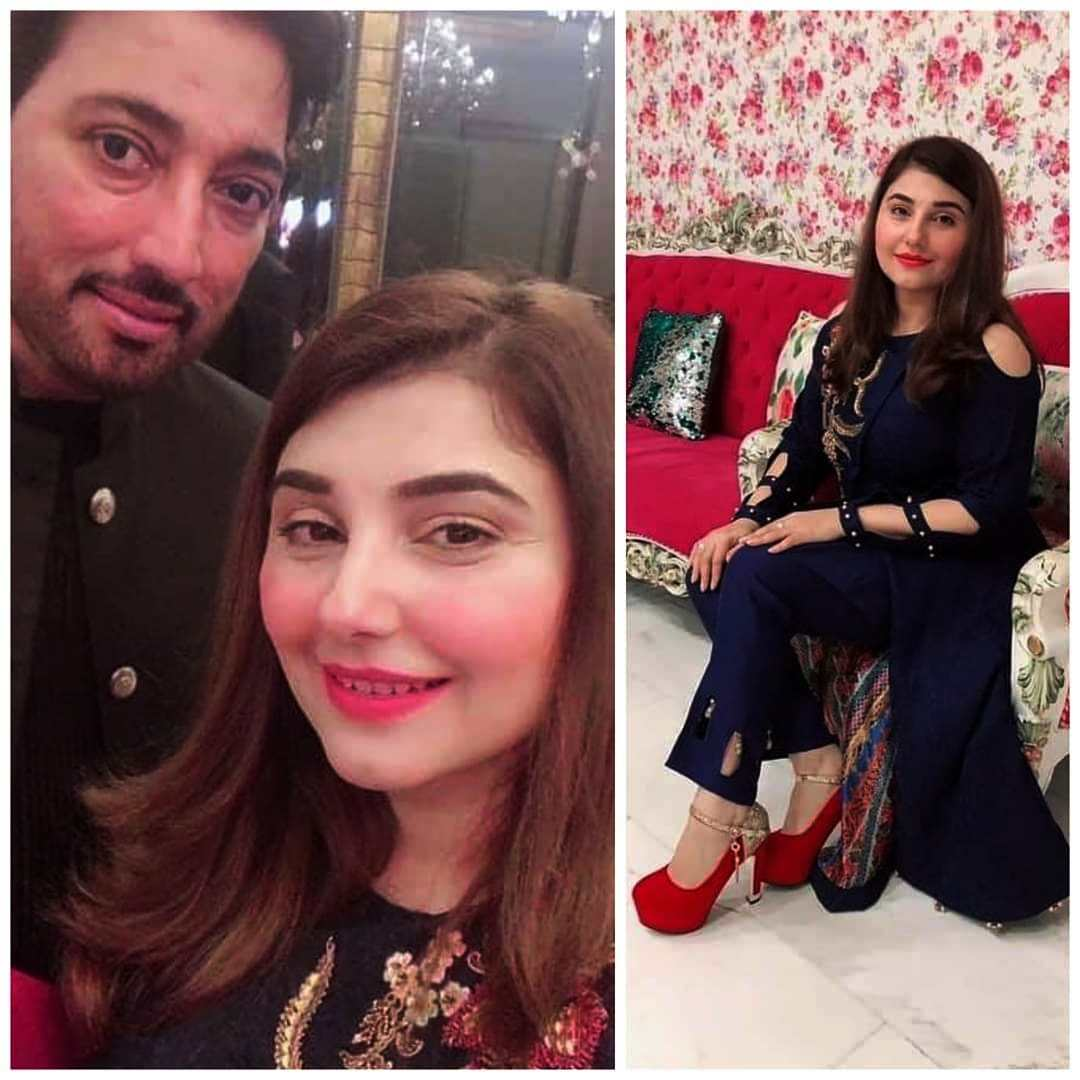 Pakistani Famous Actor Saud's Wife Javeria at Wedding Event