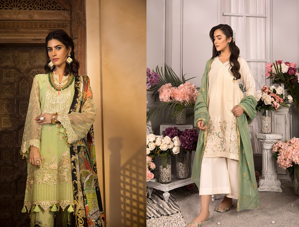 Sapphire Top 15 Women's Eid Dresses Design 2019 (1)