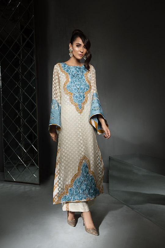 Women's Dreamy Eid luxury Pret Wear Collection 2019 By Saira Shakira (13)