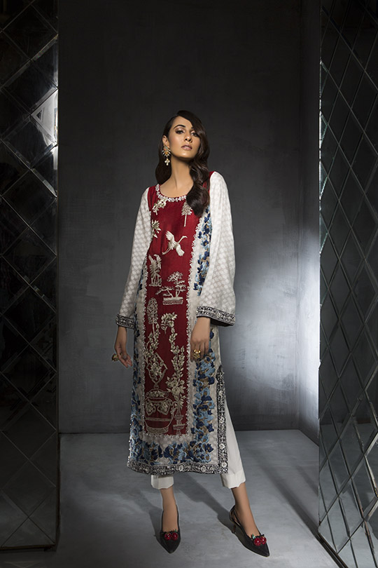 Women's Dreamy Eid luxury Pret Wear Collection 2019 By Saira Shakira (6)
