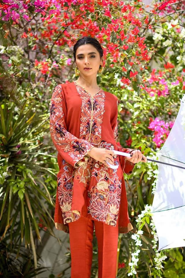 Gul Ahmed Les Morris Women's Eid Dresses Collection 2019 (7)