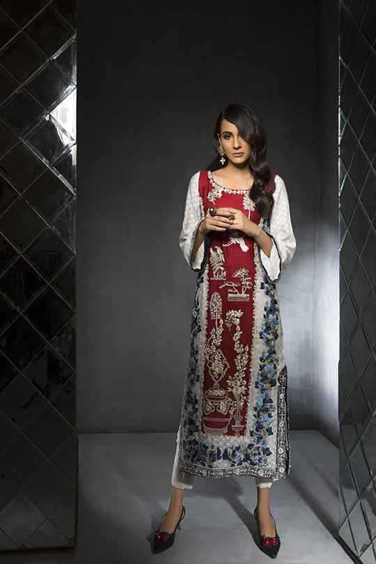 Women's Dreamy Eid luxury Pret Wear Collection 2019 By Saira Shakira (7)