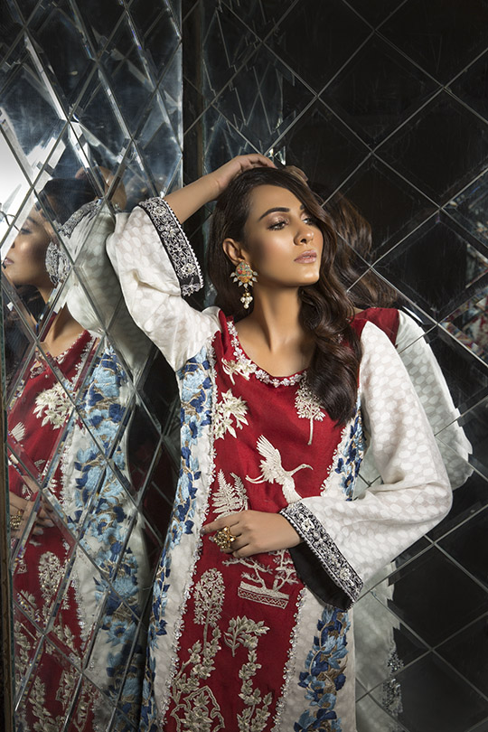 Women's Dreamy Eid luxury Pret Wear Collection 2019 By Saira Shakira (8)