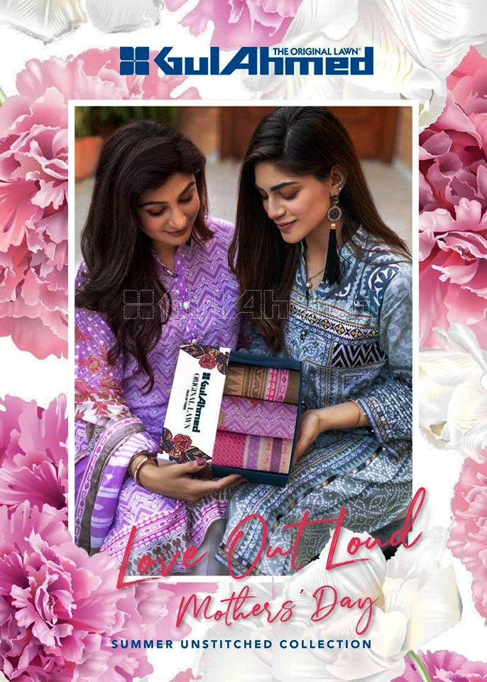 Mother's Eid Dresses Collection 2019 By Gul Ahmed 2