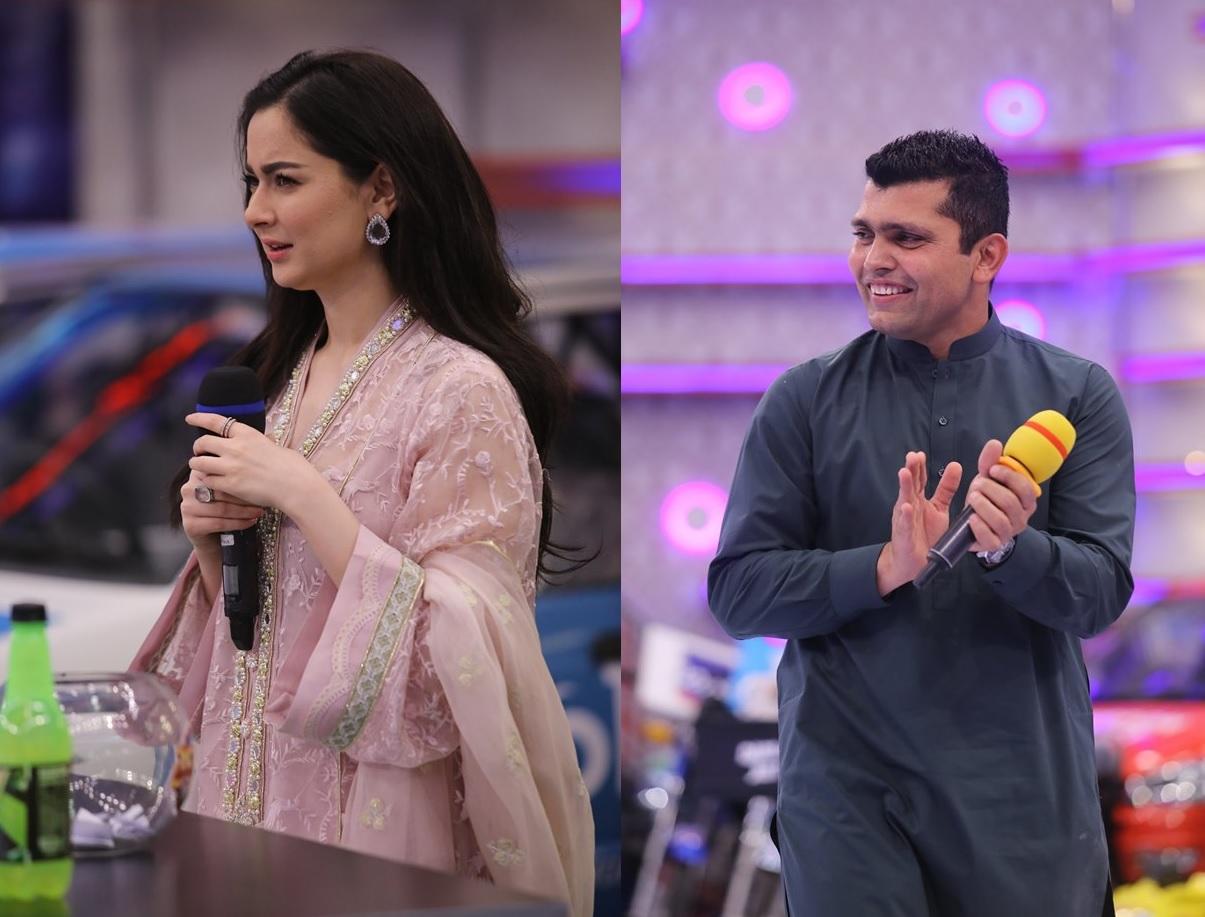 Cricketer Kamran Akmal and Actress Hania Amir in Jeeto Pakistan (1)