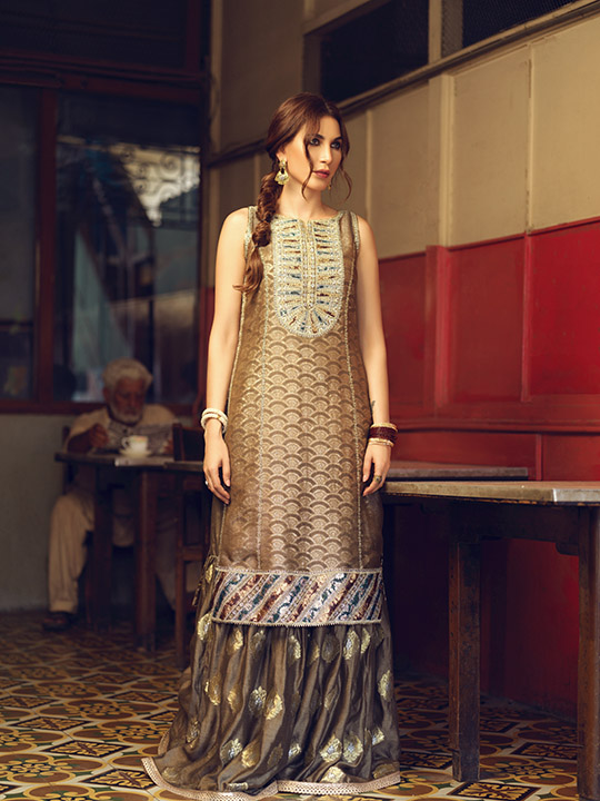 Umsha By Uzma Babar Women's Eid Dresses Collection 2019 1