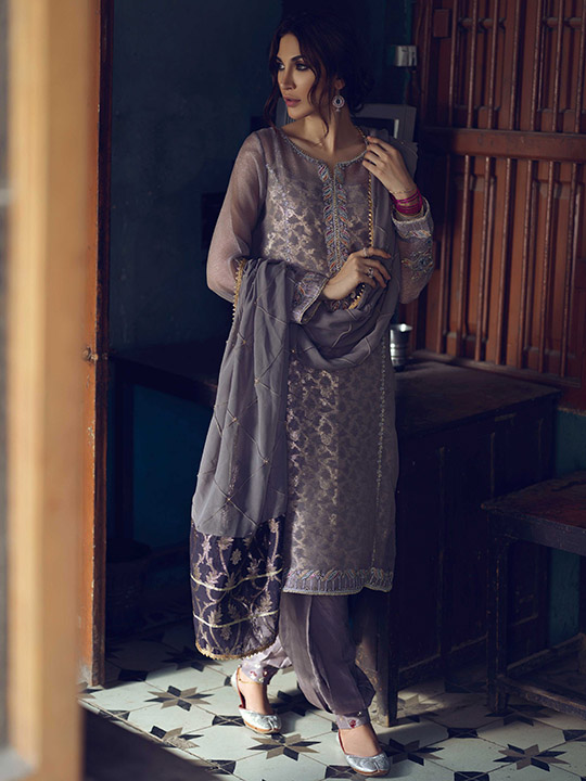 Umsha By Uzma Babar Women's Eid Dresses Collection 2019 7