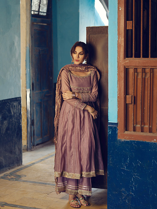 Umsha By Uzma Babar Women's Eid Dresses Collection 2019 12