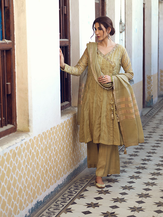 Umsha By Uzma Babar Women's Eid Dresses Collection 2019 14