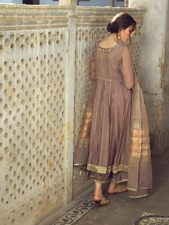 Umsha By Uzma Babar Women's Eid Dresses Collection 2019 17