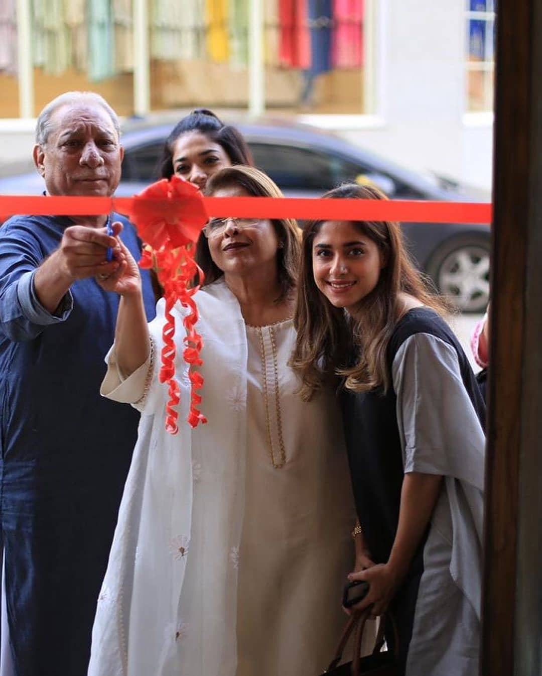 Celebrities in Sanam Jung Sister Anum Jung Launch of the new store (12)