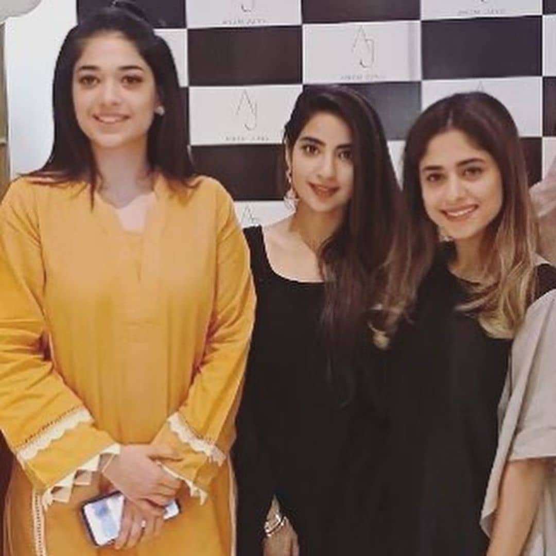 Celebrities in Sanam Jung Sister Anum Jung Launch of the new store (13)