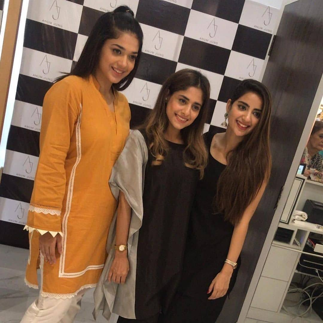 Celebrities in Sanam Jung Sister Anum Jung Launch of the new store (14)