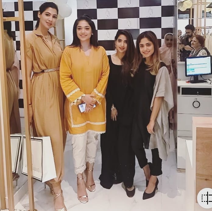 Celebrities in Sanam Jung Sister Anum Jung Launch of the new store (16)
