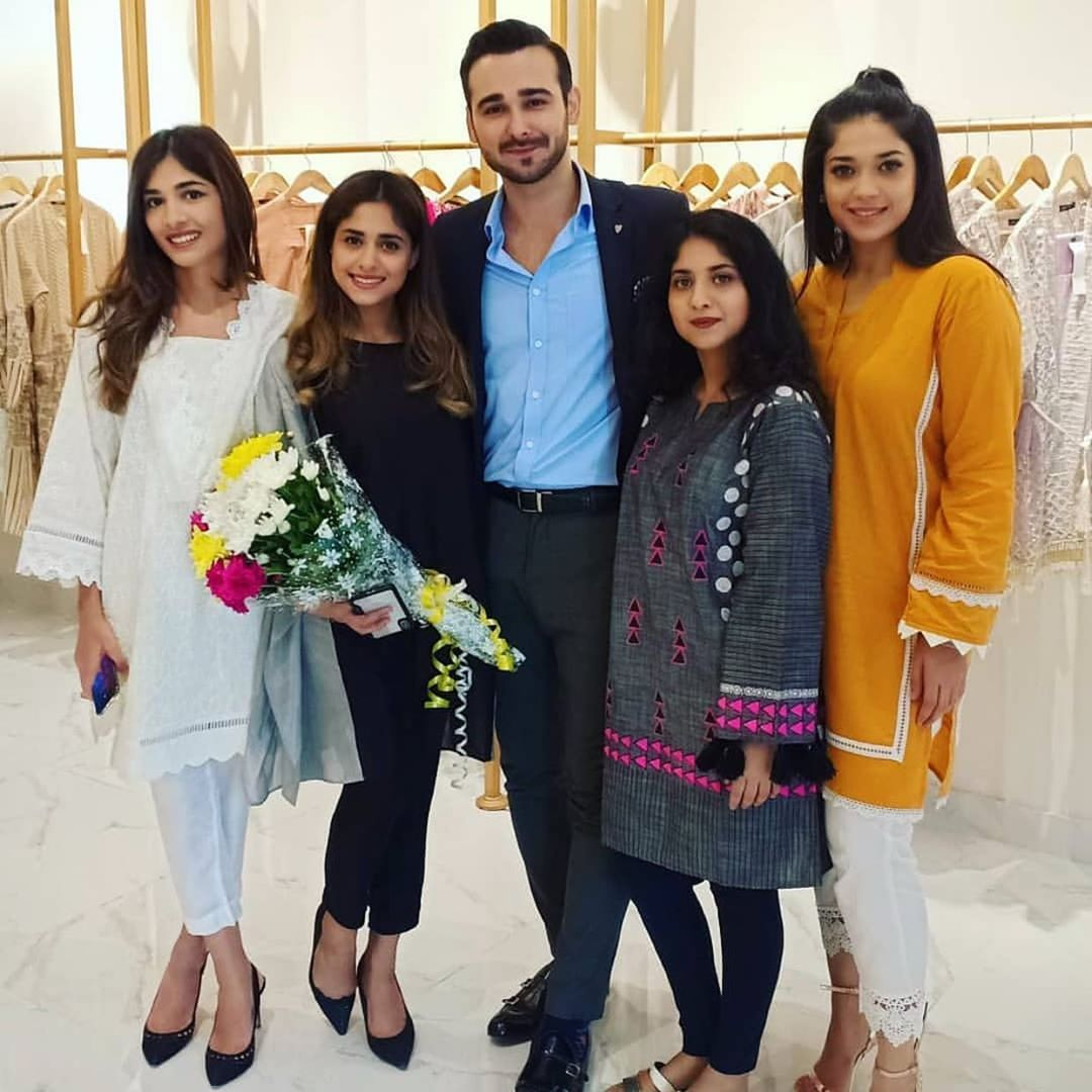 Celebrities in Sanam Jung Sister Anum Jung Launch of the new store (18)