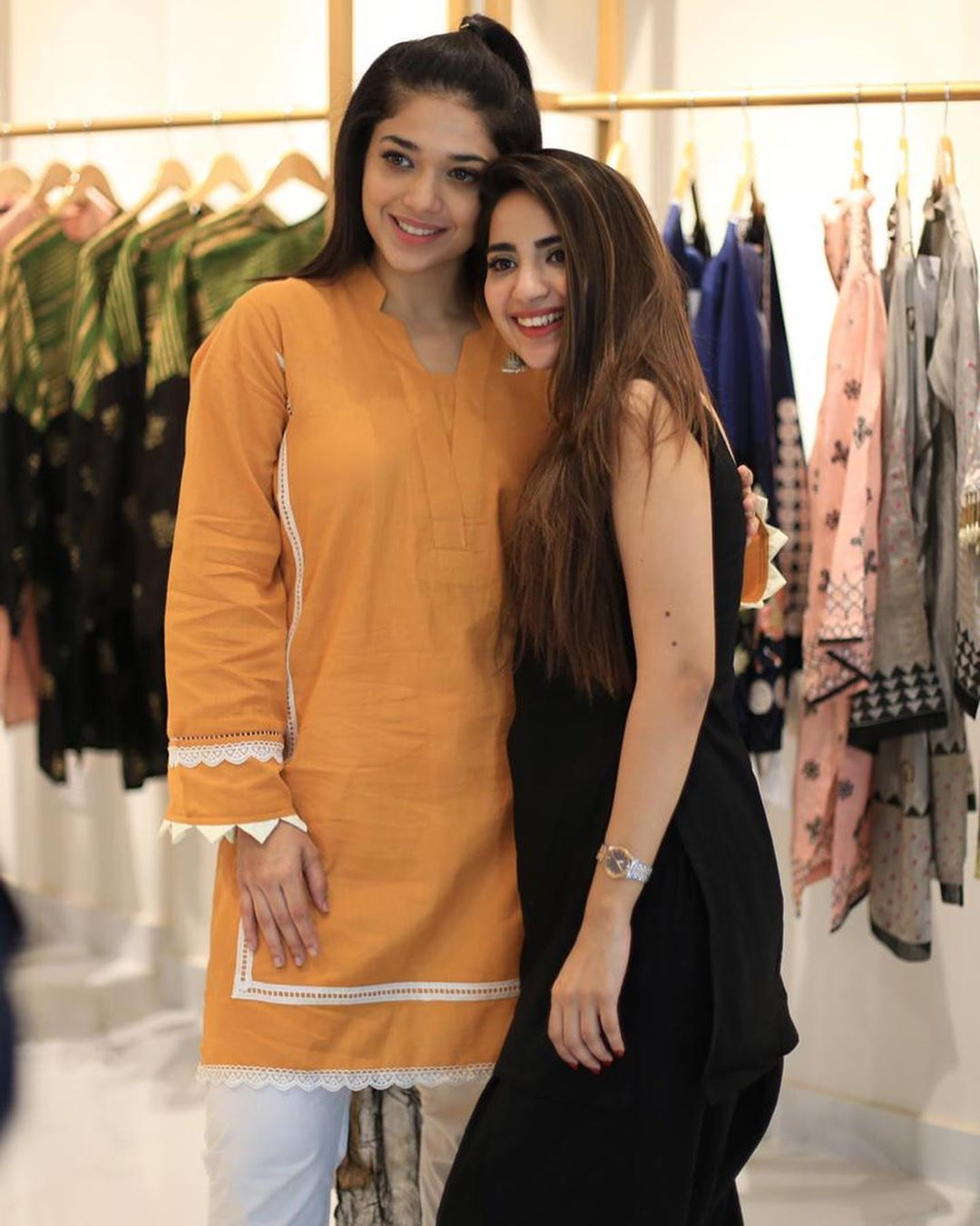 Celebrities in Sanam Jung Sister Anum Jung Launch of the new store (26)