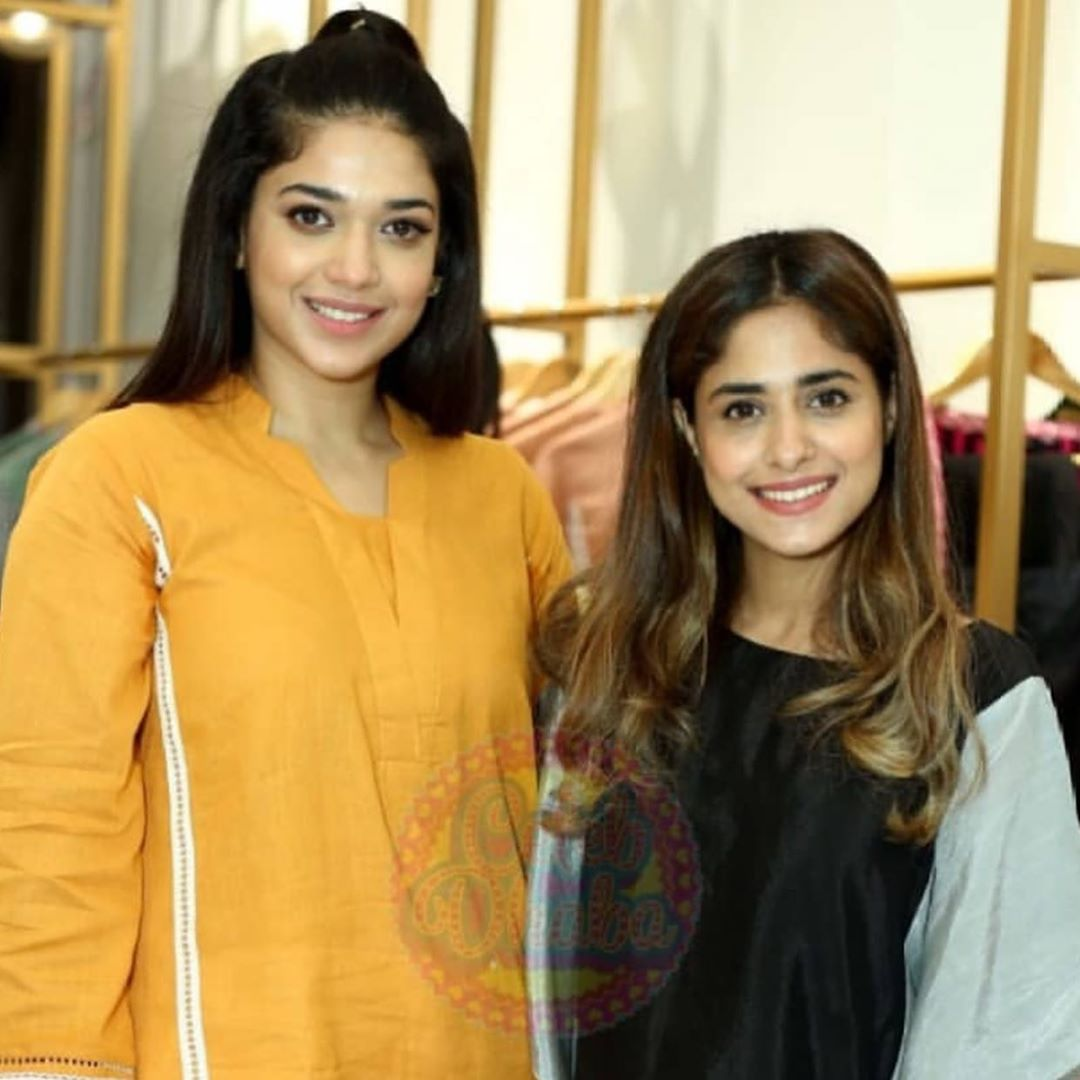 Celebrities in Sanam Jung Sister Anum Jung Launch of the new store (9)