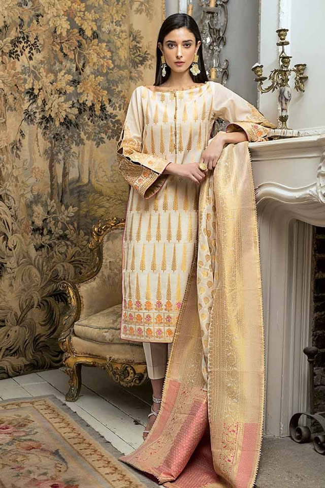 Luxury Festive Dresses Collection 2019 By Gul Ahmed (4)
