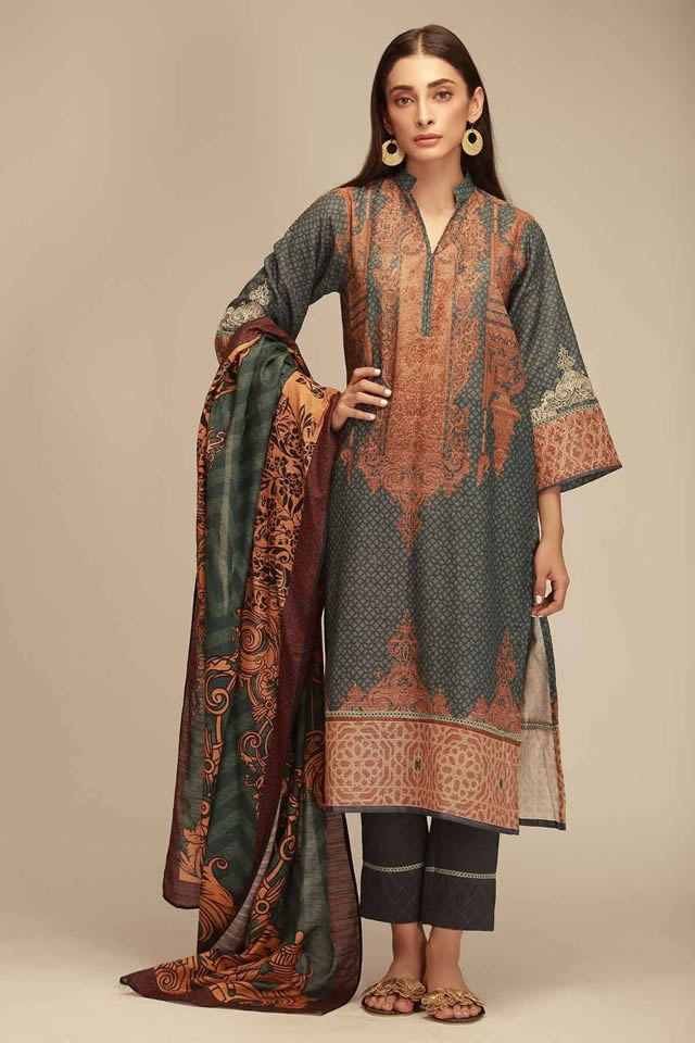 Printed Lawn Unstitched Collection 2019 By Khaadi (10)