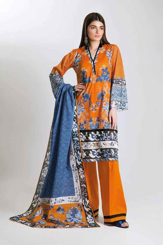 Printed Lawn Unstitched Collection 2019 By Khaadi (11)
