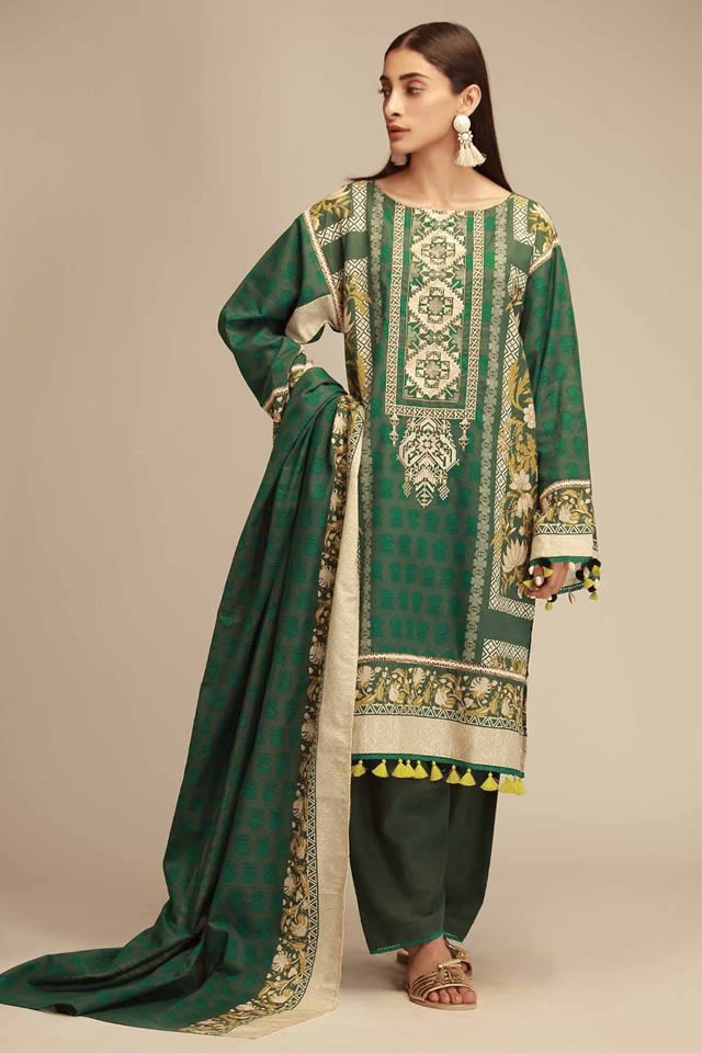 Printed Lawn Unstitched Collection 2019 By Khaadi (13)
