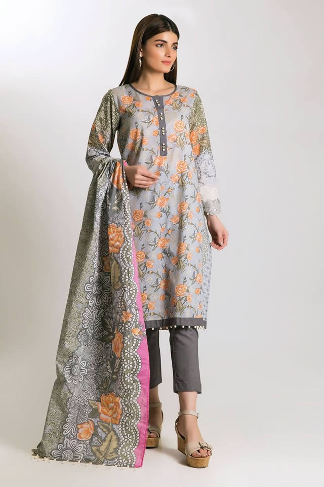Printed Lawn Unstitched Collection 2019 By Khaadi (5)