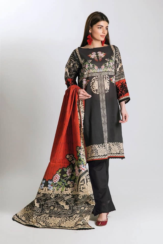 Printed Lawn Unstitched Collection 2019 By Khaadi (6)